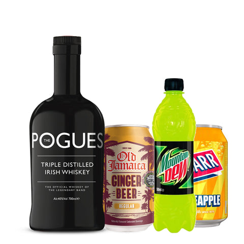 The Pogues Irish Whiskey + 3 Retro Soft Drink Mixers