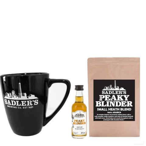 Irish Coffee Offer- 5cl Peaky Blinder Irish Whiskey, 250g Peaky Blinder Coffee & a Sadler's Mug!