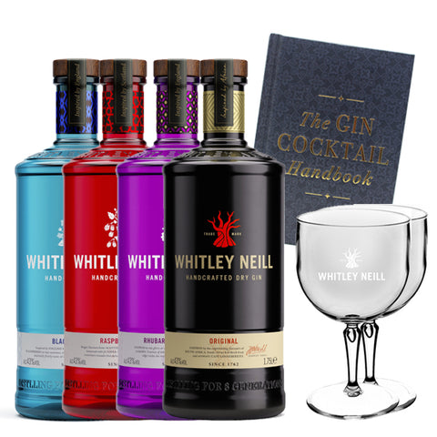 Whitley Neill Gin Extra Large 1.75 Litre Bottles + Cocktail Kit