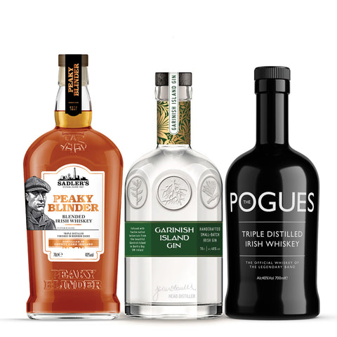 Irish Whiskey & Gin - 3 bottles for £45
