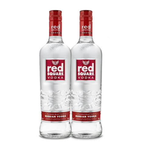 Two Bottles of Red Square Vodka