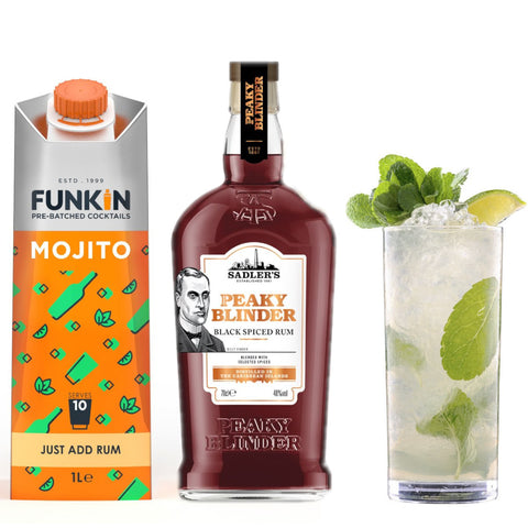Funkin Friday- A Bottle of Rum and 3 Funkin Pre-Batched Cocktail Mixers