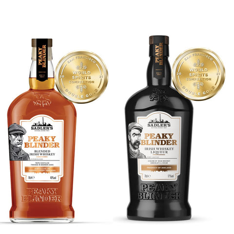 Buy a bottle of Sadler's Peaky Blinder Irish Whiskey & get a bottle of Liqueur for FREE!