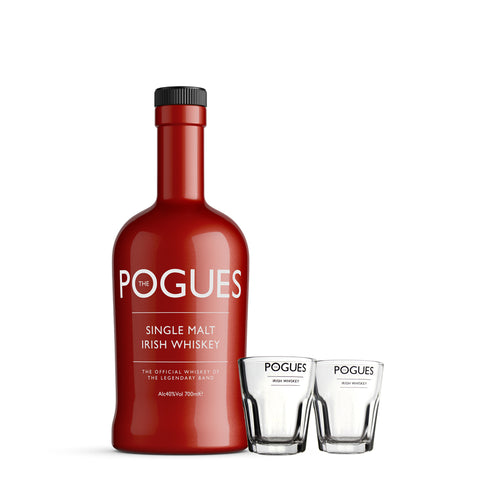 The Pogues Irish Whisky + Shot Glasses