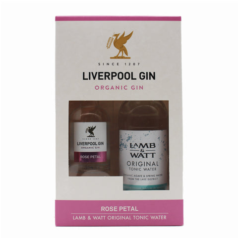 Liverpool Rose Petal Gin Miniature & Light Tonic Gift Set