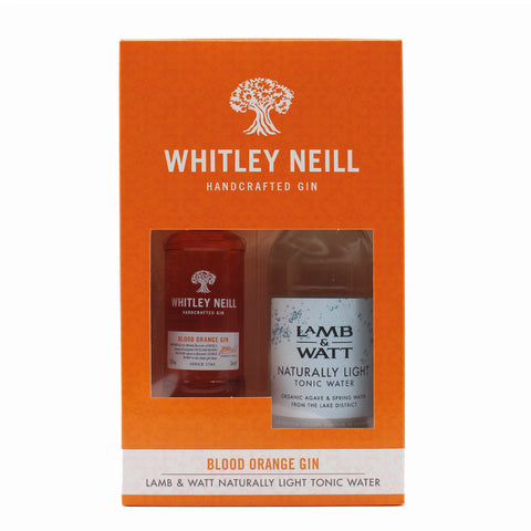 Whitley Neill Blood Orange Miniature & Light Tonic Gift Set