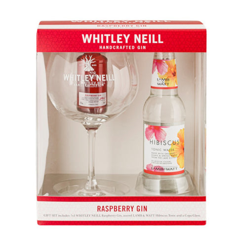 BUY ONE GET ONE FREE! Whitley Neill Raspberry Gin, Copa Glass and Lamb & Watt Hibiscus tonic
