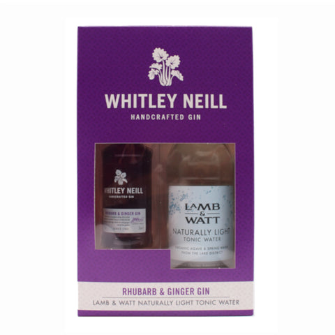 Whitley Neill Rhubarb and Ginger Miniature & Light Tonic Gift Set