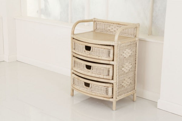 Daro Three Drawer Rattan Storage Unit