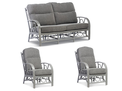 Desser Bali Grey 3 Seater Suite