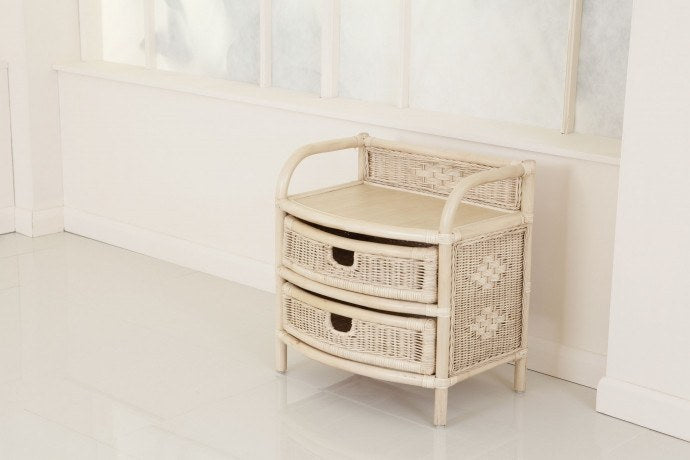 Daro Two Drawer Rattan Storage Unit