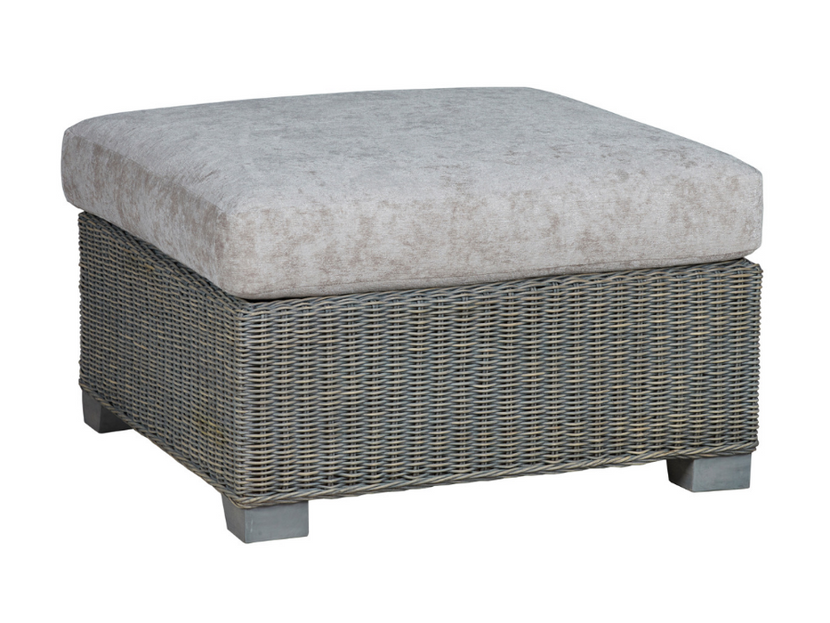 The Trento Rattan Footstool