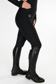Crown Technical Riding Leggings - Black