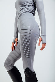 RIDING LEGGINGS - PIN TUCK PLATINUM