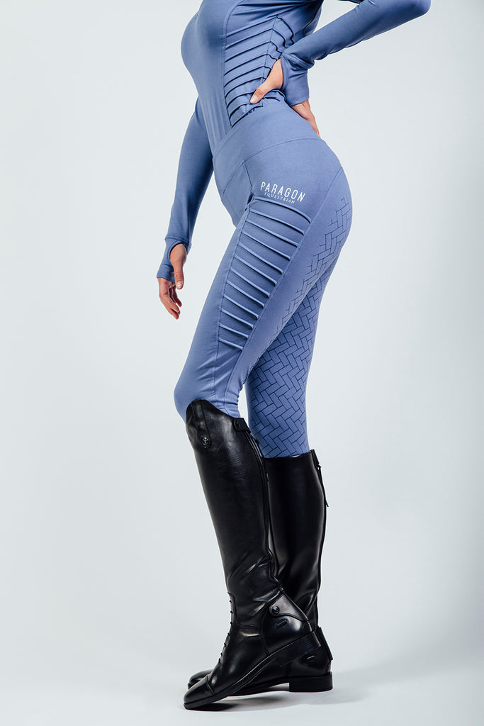 PIN TUCK RIDING LEGGINGS - LAVENDAR