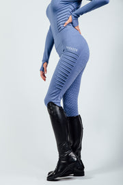 Horse Riding Leggings, Technical Riding Leggings in Corn Blue