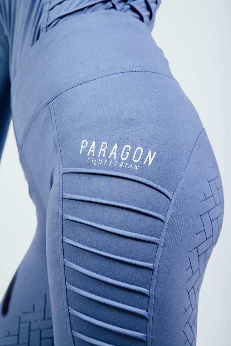 RIDING LEGGINGS - PIN TUCK CORN BLUE (Slightly Marked)