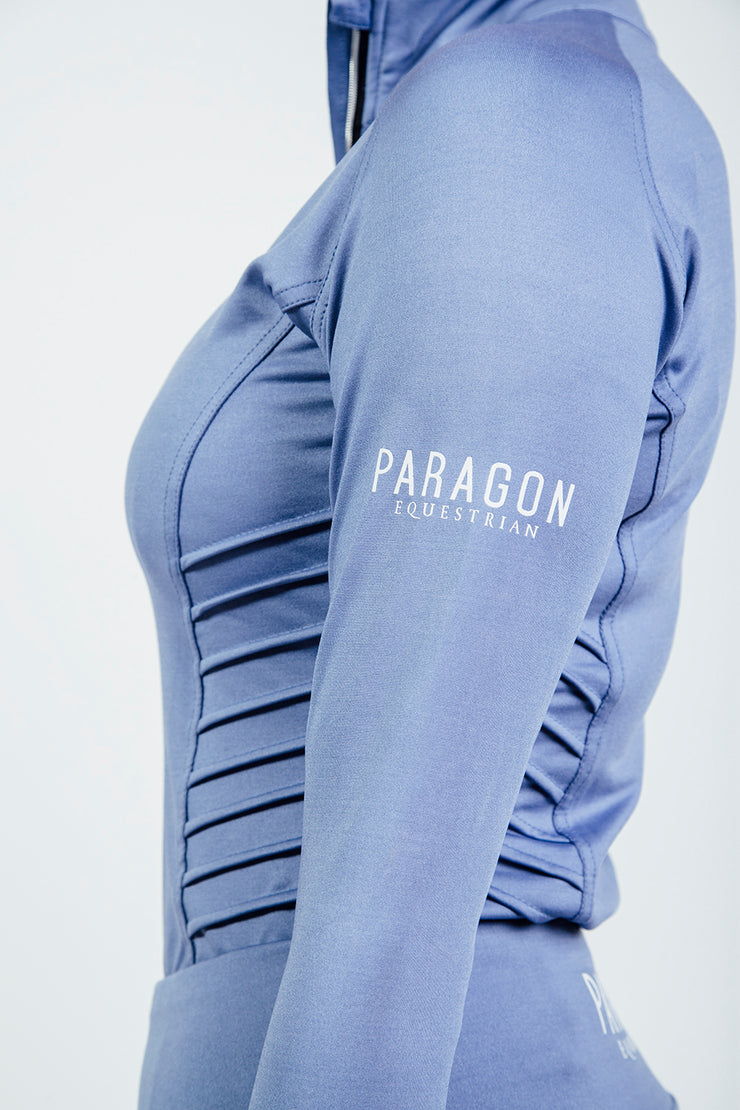 PIN TUCK BASELAYER - CORN BLUE (Slightly Marked)