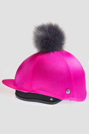 Luxe Faux Fur Pom Pom Silk - Hot Pink
