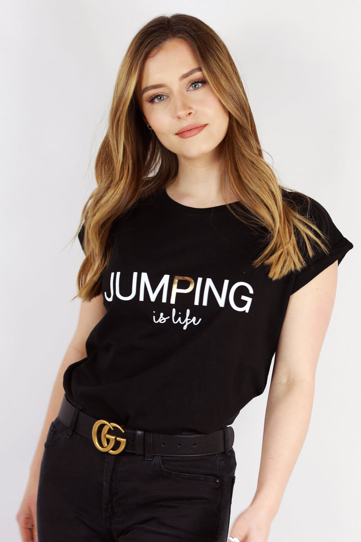 "Jumping ""Is Life"" Tees"