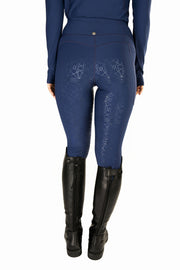 Crown Technical Riding Leggings - Navy