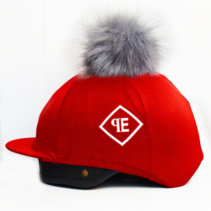 Luxe Faux Fur Pom Pom Silks - Red