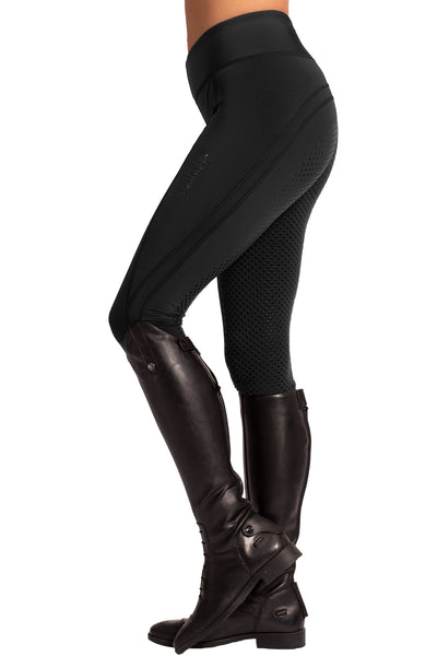 Technical Riding Leggings - Full Dot Seat - Black
