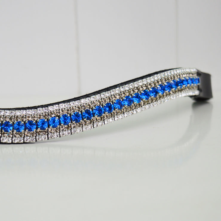 Blue crystal browband