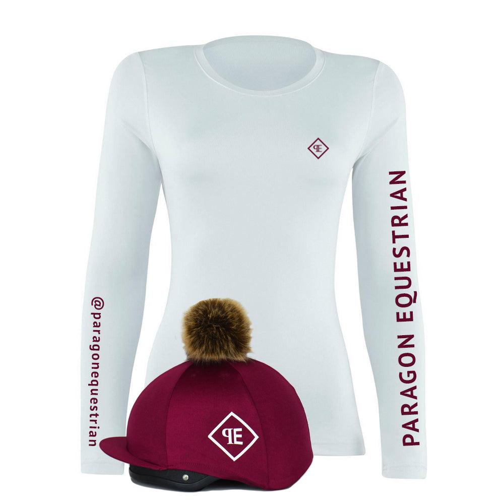 Custom Sport Base Layer - With Faux Fur Pom Pom Silk & your Name/Tag