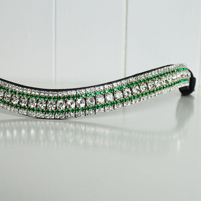 Crystal and Emerald Megabling Browband