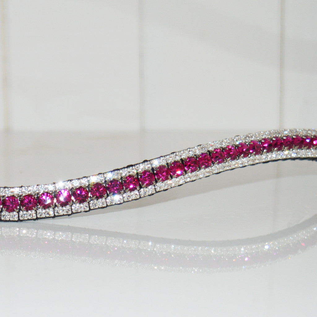 Fuschia and Clear Browband