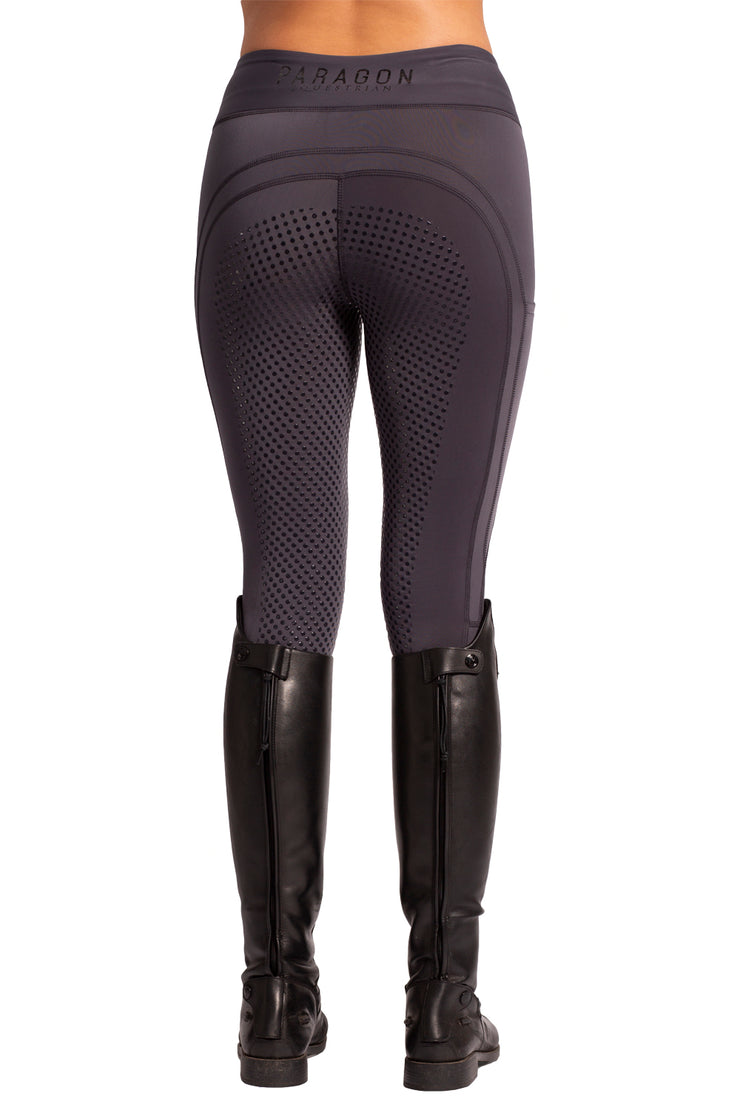 Technical Riding Leggings - Full Dot Seat - Graphite (Marked)