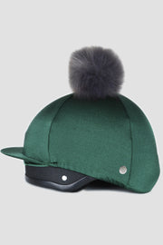 Luxe Faux Fur Pom Pom Silk - Bottle Green