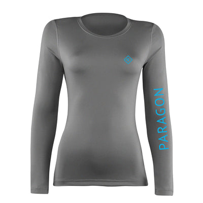 Luxe Sport Base Layer - Grey/Aqua