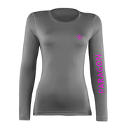 Luxe Sport Base Layer - Grey/Hot Pink