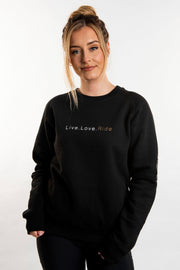Live.Love.Ride Sweatshirt - Black