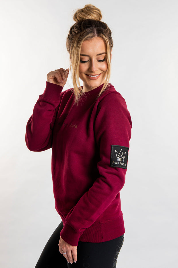 Live.Love.Ride Sweatshirt - Burgundy
