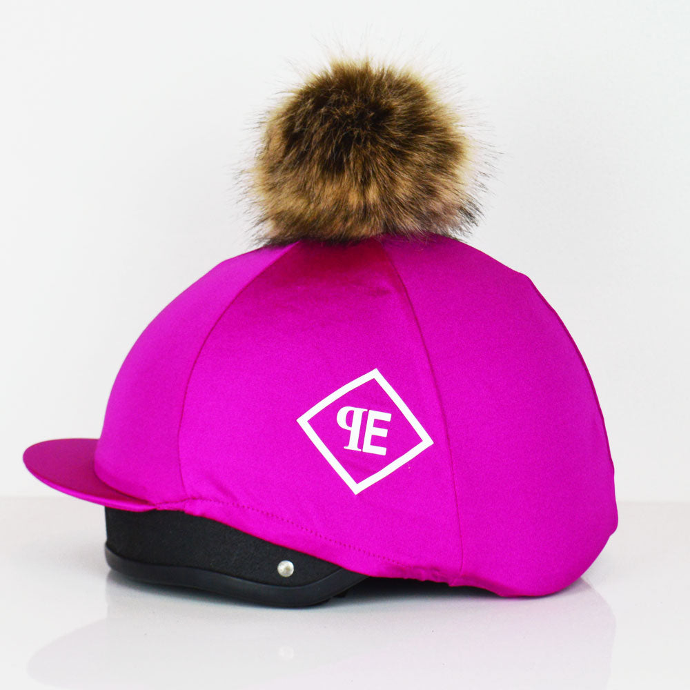 Luxe Faux Fur Pom Pom Silks - Magenta/Natural Fox Pom Pom