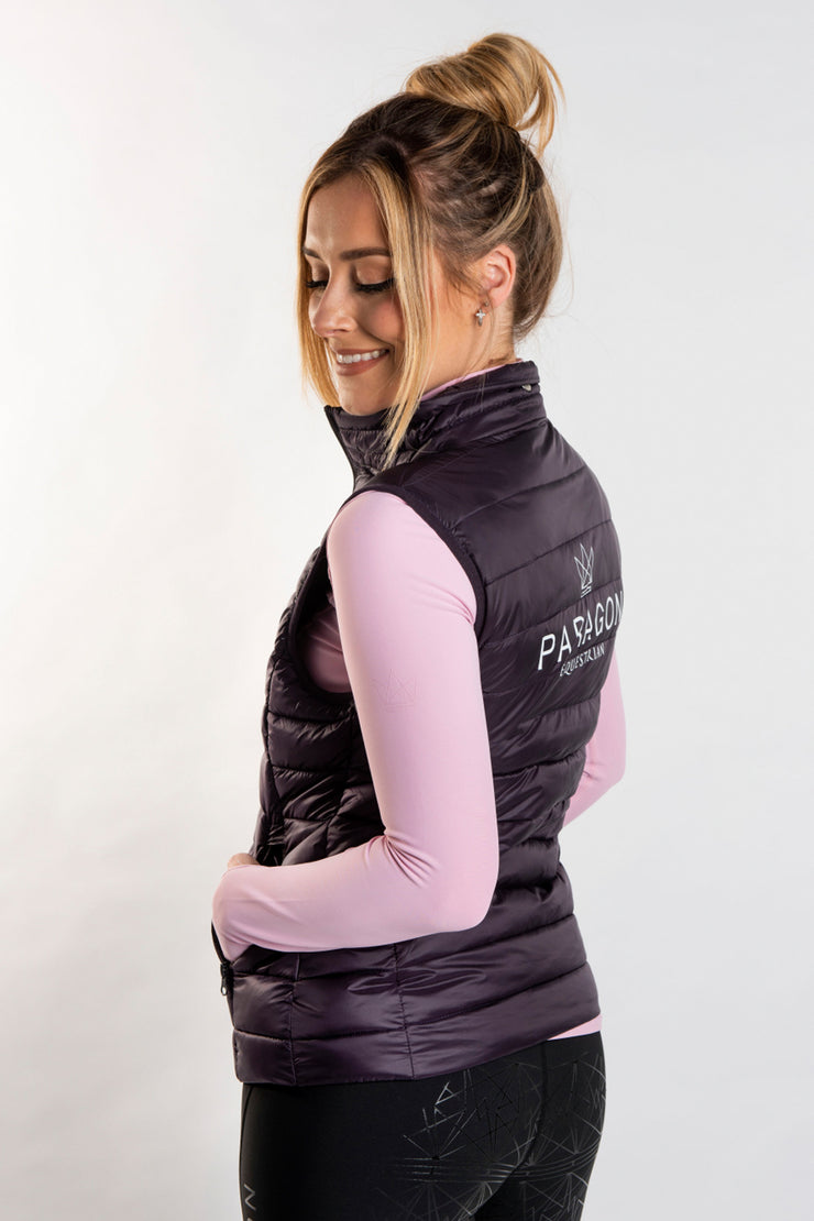 Luxe Sporting Gilet - Mulberry