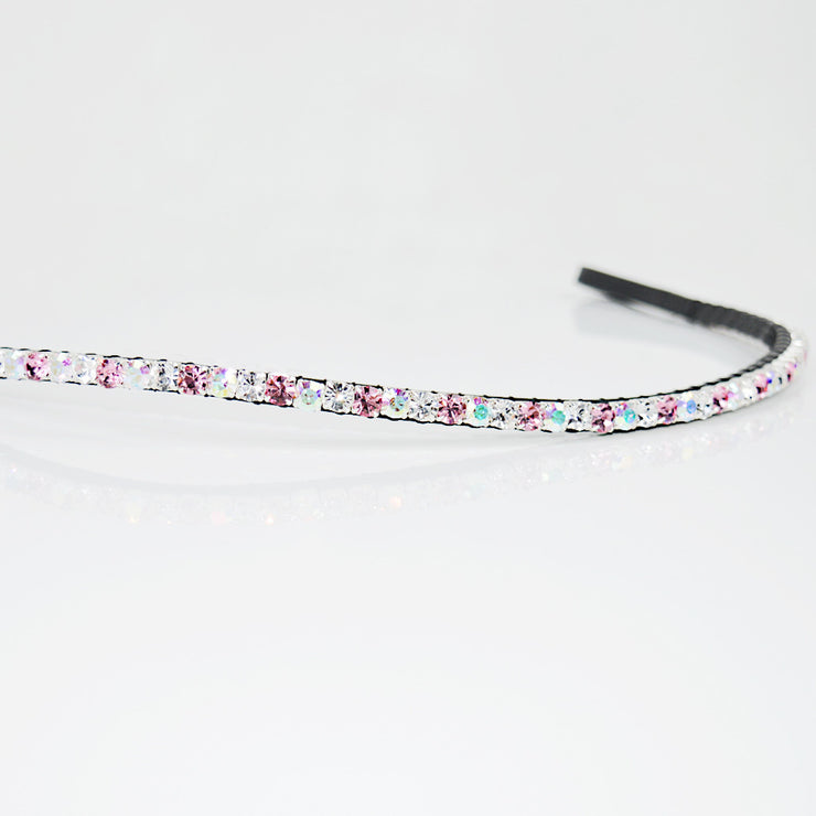 Pink Rose Multi Mini Glitz Browband