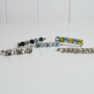Crystal stock pins
