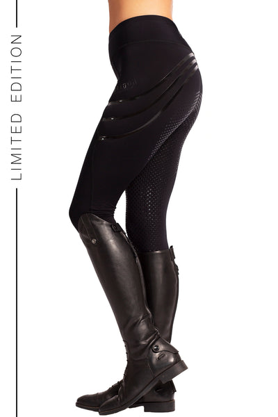 Technical Riding Leggings - Silicon Stripe Black