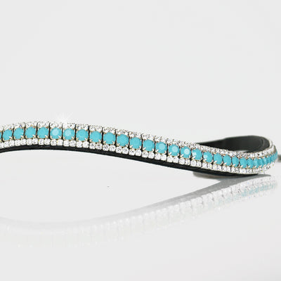 Turquoise and Clear Browband