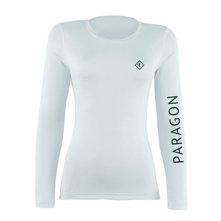 Luxe Sport Base Layer - White/Bottle Green