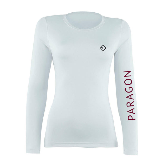 Luxe Sport Base Layer - White/burgundy
