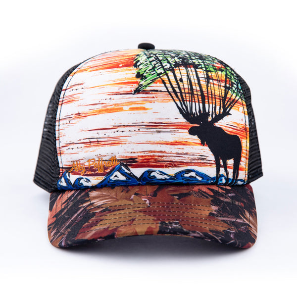 Artist Series Trucker Hats by Abby - Art 4 All Hats   Artwork by ... a87d663591f3