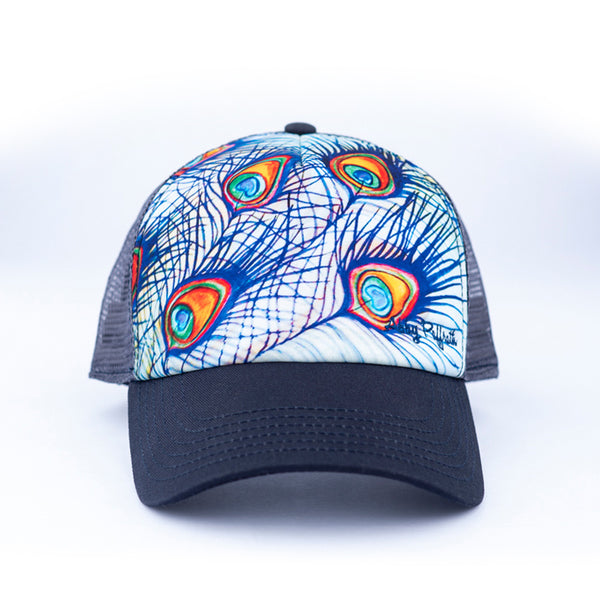 eaebeb1850e16 Artist Series Trucker Hats by Abby - Art 4 All Hats   Artwork by Abby  Paffrath