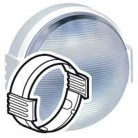 Cover plate Koro Round bulkhead lights - clip-on - white