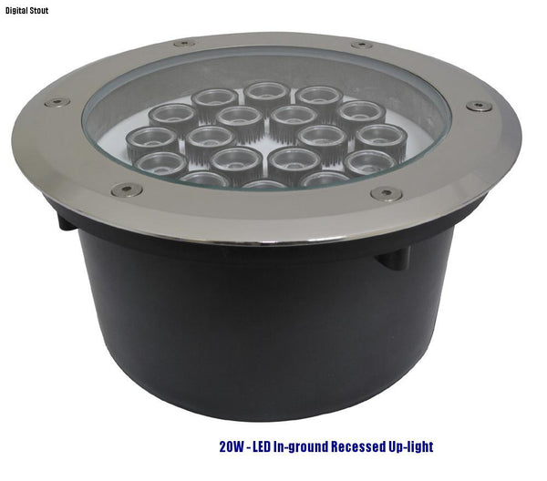 FRATER 20W - LED In-ground Recessed Up-light