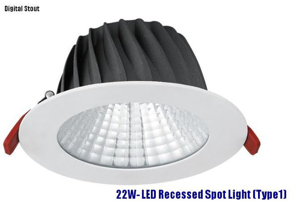 FRATER 22W- LED Recessed Spot Light (Type1)